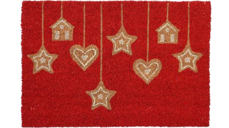 Придверный новогодний коврик